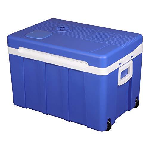WOLTU Frigo Portatile 12V 220V, 50L Mini Frigorifero Silenzioso Elettrico, Minifrigo per Ufficio Campeggio Auto, Caldo e Freddo Blu KUE003bl