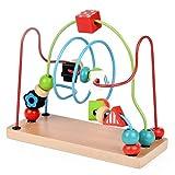 ビーズコースター ルーピング おもちゃ 木製おもちゃ 子ども 知育玩具 方形スタンド