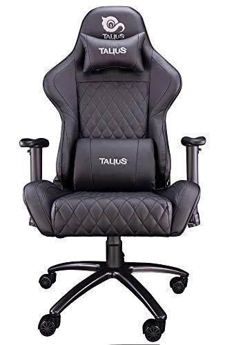 Talius Silla Komodo Gaming Black, 2D, Butterfly, Base Metal, Ruedas 60mm Nylon, Gas Clase 4, 2 almoh