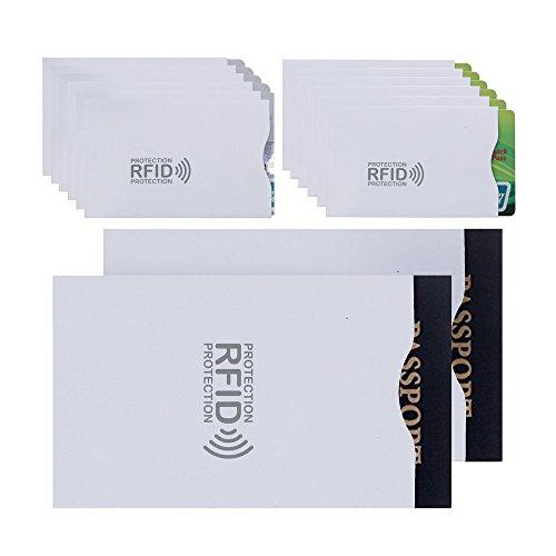 スキミング 防止 カード ケース 12枚 パスポート 2枚 スリーブ入れ カードホルダー (24枚収納)付