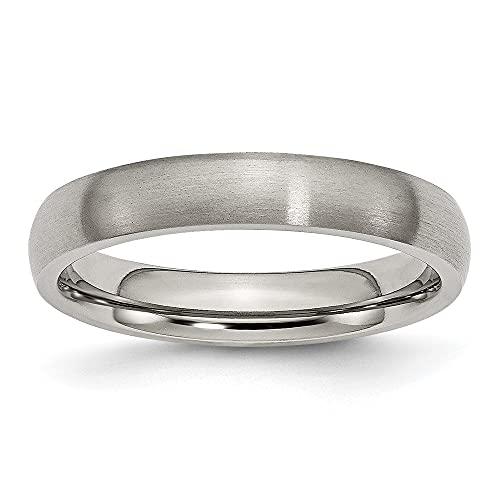 Alianza de boda de titanio cepillado de 4 mm