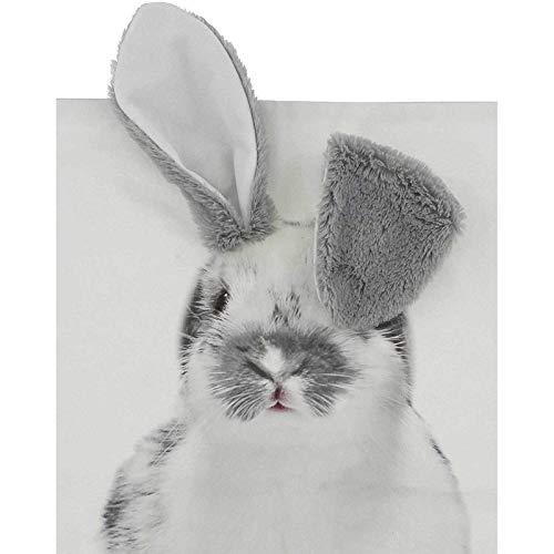 SIDCO Kissenhülle Hase Kissenüberzug Kuschelkissen Kissen Bezug Osterhase 45x45 cm