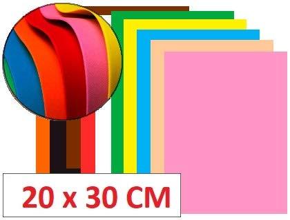 Goma Eva 20x30cm 2mm Surtido 12 Colores