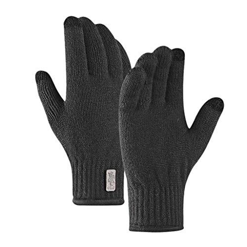 carol -1 Touchscreen-Handschuhe Anti-Rutsch für Damen Herren,Fäustlinge Strickhandschuhe Outdoor-Warm-Handschuhe Wasserdichte Touchscreen Gloves Wool Plus Velvet -Handschuhe zum Telefonieren