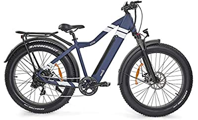 Electric Bike for Adults 750w Motor! 5 Speed Settings; Leisurely Beach Cruiser to Powerful Off Road Biking. Throttle w/Pedal Assist, 48V 14AH Battery. Matte Blue