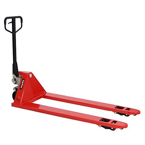 ハンドパレット 超ロング 幅広 幅685mm フォーク長さ1510mm 2500kg ハンドリフト ハンドパレットトラック ハンドリフター 2.5t ロング パレットトラック リフト ハンドトラック ダブルローラー (赤)