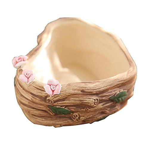 liangzishop Plantadoras Maceta suculenta en Forma de corazón Mini Maceta Maceta de cerámica Potes de cerámica Adecuado para decoración de jardín para el hogar Macetas para Jardinería