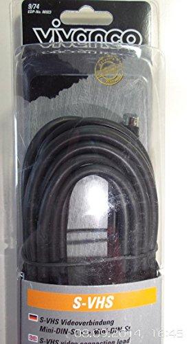 Vivanco S-VHS Video Cable, 5m–Kabel S-Video (5m, 5m, S-Video (4-polig), S-Video (4-polig))