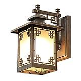 Luz de la pared europea Special Sconence Light Linterns Wall Sconence luces al aire libre Iluminación Industria Fácil instalación Iron Rust Hot Galdway Garage Barn Farmhouse Comedor 1 lámpara lámpara