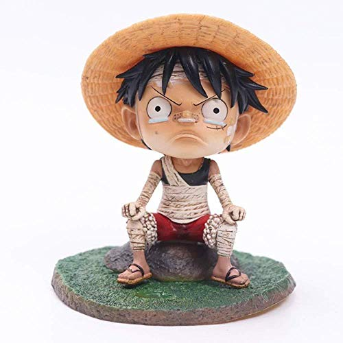 One Piece Q Edition Childhood GK Vendaje Luffy Ace Saab Anime Hecho a mano Coche Hecho a mano Decoración Hecho a mano Ajedrez Rey Personaje de dibujos animados Modelo Regalo de cumpleaños (Tamaño: A)