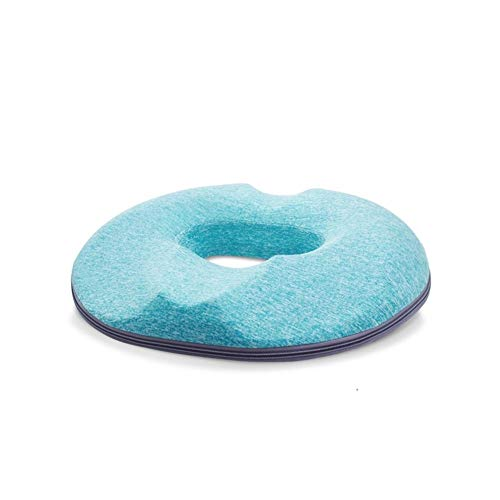 Guomao Gel Memory Foam Pad Butt Pad Hemorrhoids Bedsore Pregnant After Caudal Decompression Best Bottom Cushion (Color : Light Blue)