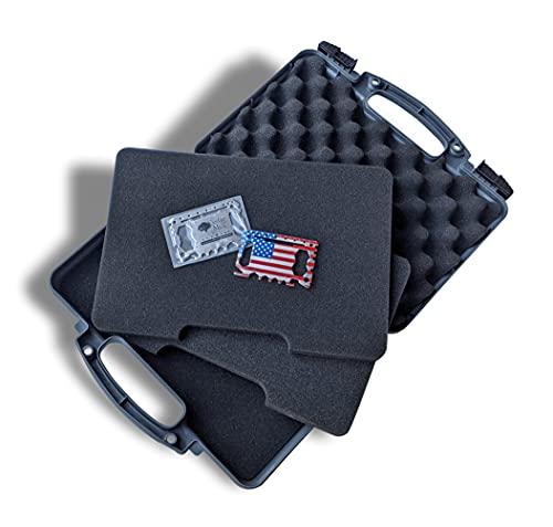 Air Force Gray - Hard Gun Case Pistol Case – TSA Approved,...