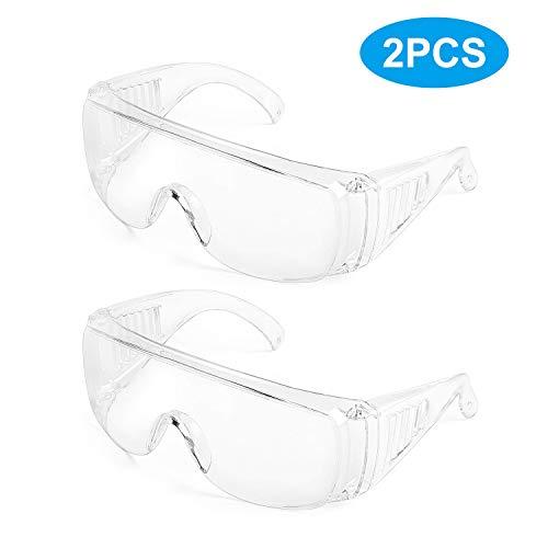 Deyard Gafas de Protección con Lentes Antivaho Resistentes a Salpicaduras, Gafas con Pieza de la Nariz Suave, Ligeras y Cómodas de Llevar
