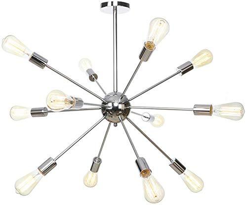 Industriële Vintage Decoratie Kroonluchter Hanglampen 12-Lights Sputnik Plafond Lamp Mid-Eeuw Hanglampen voor Boerderij Magazijn Verlichting armatuur E27 AC 110V-240V