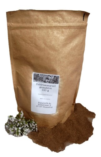 Naturix24 – Baldrianwurzel gemahlen – 100 g Beutel