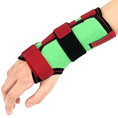ORTONYX Kids Wrist Support Immobilider Brace with Splint / ACJB2302GRN