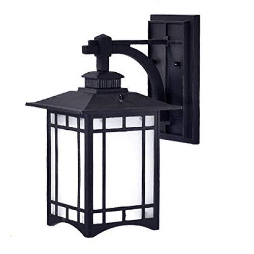 Wandlamp voor buiten, Chinese stijl, waterdicht, retro-stijl, Japanse stijl, villa, wandlamp, deur, balkon, voorzijde, hal, binnenplaats, buiten, maïslampen, LED, zwart, zand, 20 W