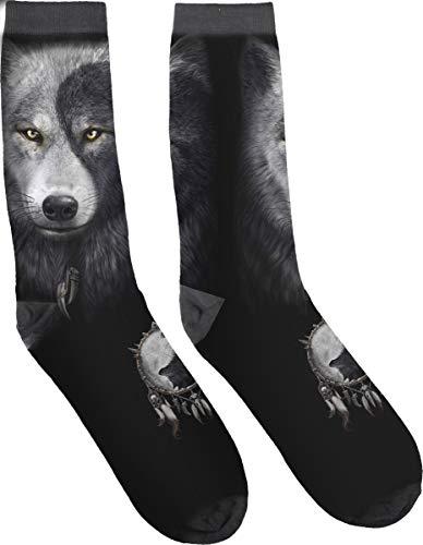 Spiral - WOLF CHI - Unisex Socken mit Print - S