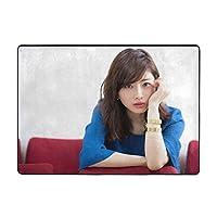 石原さとみ (3) カーペット抗菌 防臭 滑り止め付 ラグカーペット フランネル 絨毯 1年中使えるタイプ 様々な場所に適用されます。リビング、オフィス、喫茶店、ベッド、テラスなど。サイズ:203×148×2.0cm