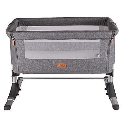 Venture Hush Bedside Crib - Anthracite Grey