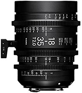 Sigma 18-35mm T2 Cine High-Speed Zoom Lens, Imperial, PL Mount