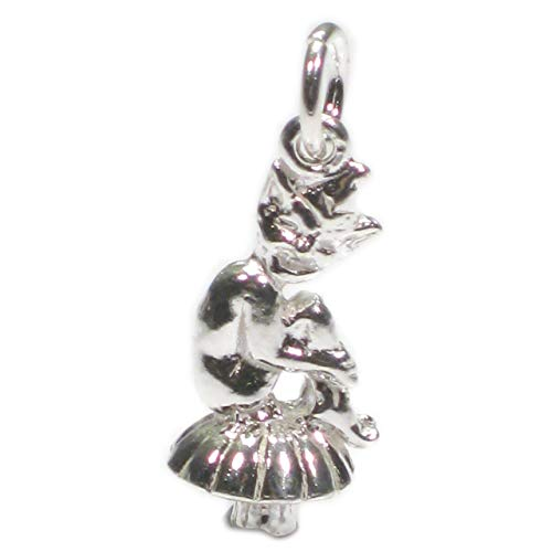 Pixie sitting on a mushroom sterling silver charm .925 x 1 charms