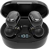 Écouteurs Intra-Auriculaires sans Fil Bluetooth 5.0 avec boîtier de Chargement, Microphone intégré, Commande Tactile, durée de 40 Heures, Son stéréo 3D HD, pour iOS et Android-S08