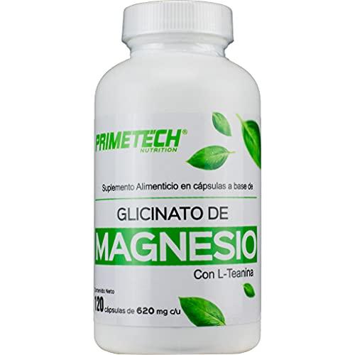 Magnesio Glicinato 120 cápsulas de 620 mg que aportan 100 mg de magnesio con mejor absorción que el citrato de magnesio