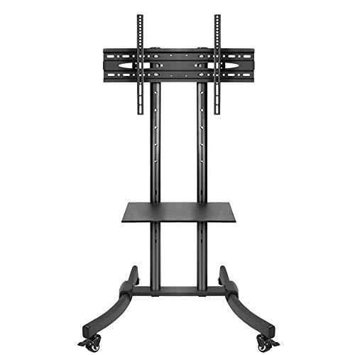 dehong Rostfreier Stahl Monitor Standfuß für 32—75 Zoll LED, LCD, OLED, Plasma TVs,Schwarz Fernsehtisch Metall mit...