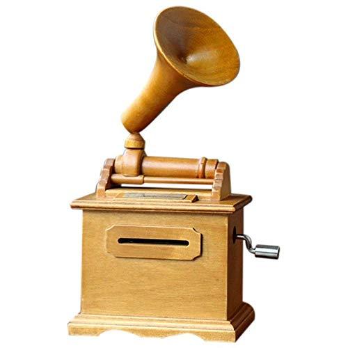 DGHJK Giradischi, fonografo a manovella, Nastro di Carta Fai da Te Scatole Musicali Artigianato in...