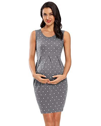 Love2Mi Abito da donna senza maniche per donne in gravidanza, elegante, per il tempo libero, da...