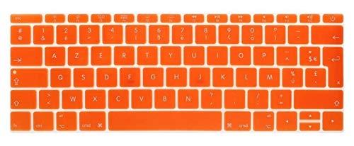 Protector de teclado de silicona para MacBook Pro de 13 pulgadas A1708 (versión 2016, no Touch Bar) para 12 pulgadas A1534 Retina para protección de teclado (color: naranja)