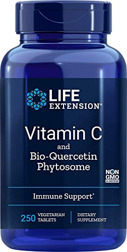 Life Extension Vitamin C and Bio-Quercetin Phytosome, 250 Vegetarian tabs