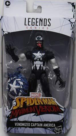 Marvel Hasbro Legends Series 15 cm große Venomized Captain America Action-Figur, Premium-Design und 2 Accessoires