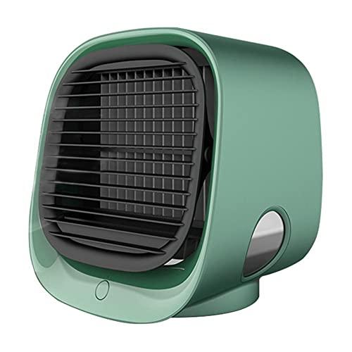 YGGFA Fan del refrigerador de Aire USB Mini Aire Acondicionado portátil Easy Air Cooler Fan Desktop Space Personal Space Air Enfriamiento Fan para la Oficina de la habitación (Color : Green)