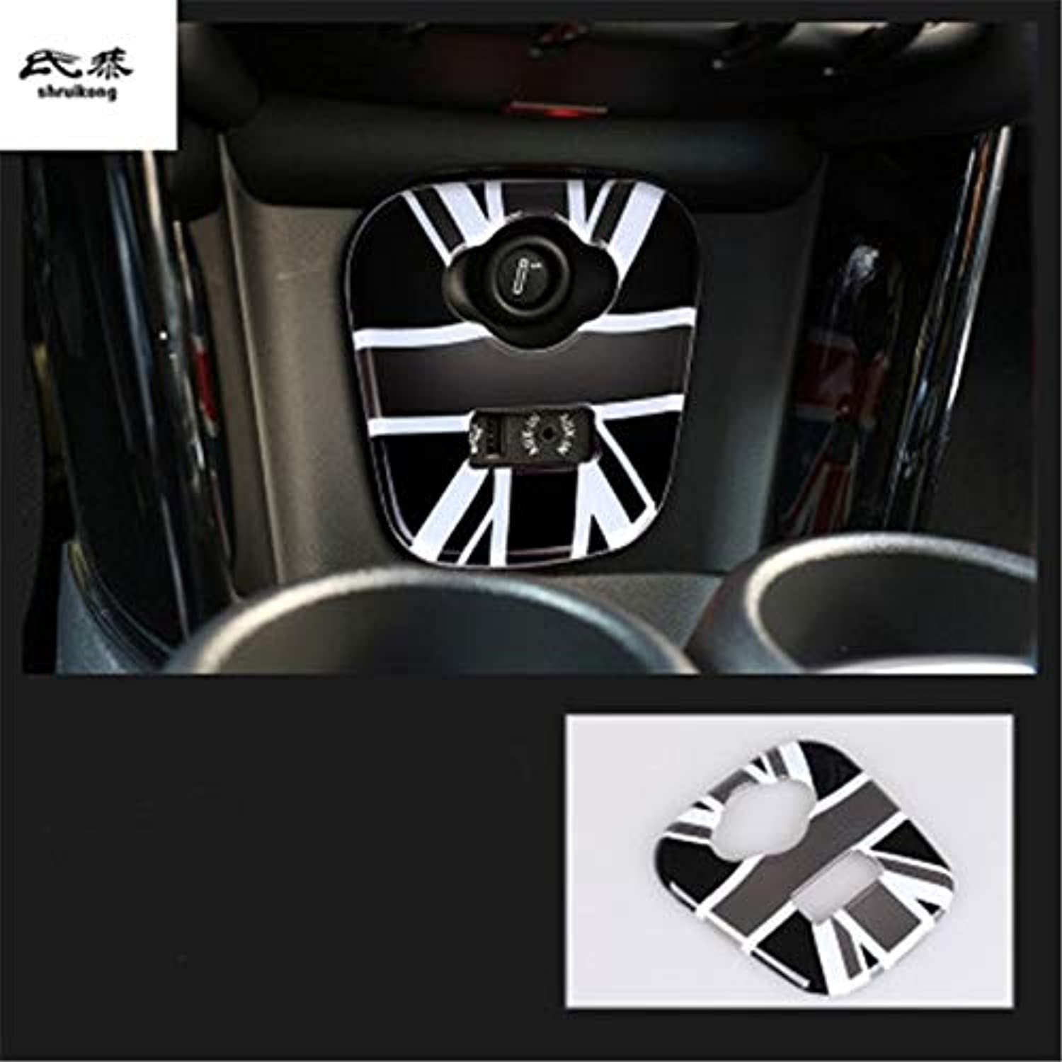 1pc PC Material Cigarette Lighter Panel Decoration Cover for Cooper F55 20152017   F56 20142017 20162018 F57  (color Name  Style 4)
