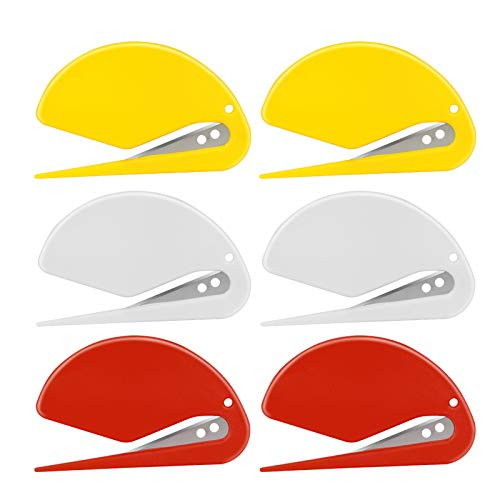 HDONG 6PCS Letter Opener Premium Envelope Opener Slitter Cute Letter Openers with a Razor Blade for Home/Office Package