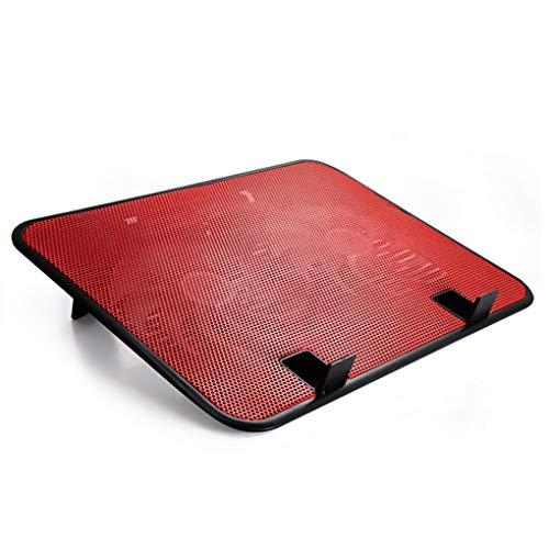 Mingtongli 14 Pulgadas refrigerador portátil de Doble Ventilador USB 5v Externa para portátil cojín de enfriamiento Delgado Soporte de Alta Velocidad silencioso Metal Panel del Ventilador