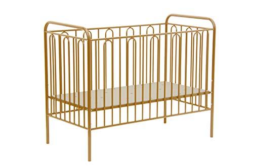 Polini Kinderbett Gitterbett aus Metall Vintage 110 gold Metall
