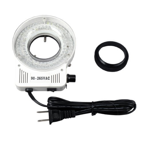AmScope LED-80S 80 LED Microscope Compact Ring Light with Built-in Dimmer by AmScope