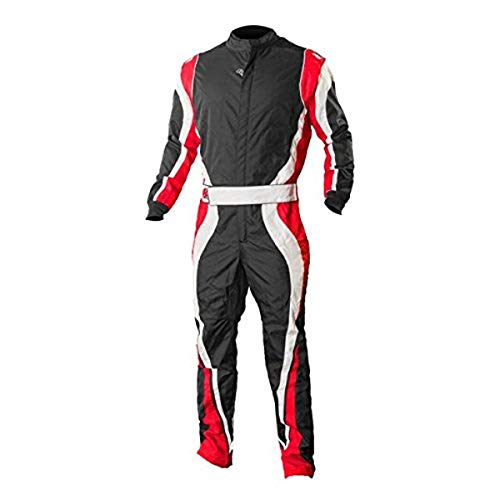 K1 Race Gear Speed 1 CIK/FIA Level 2 Approved Kart Racing Suit (Red/White/Black, XX-Large)