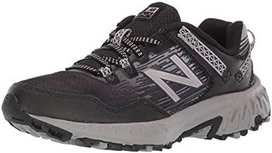 New Balance Women's 410 V6 Trail Running Shoe, Black/Magnet/Champagne Metallic, 8.5 M US