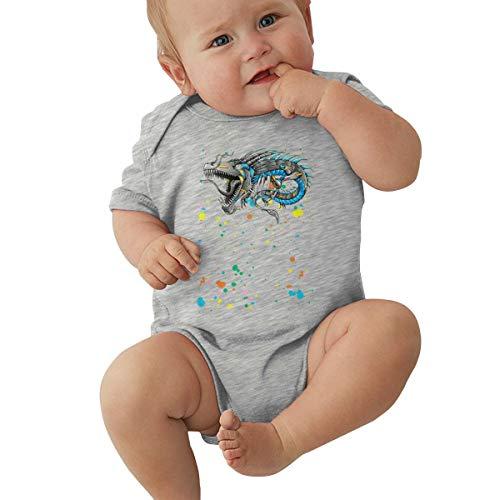 Neugeborener Bodysuit Strampler Chinese Robot Dragon Kurzarm Shirt Schlafanzüge Niedlich Baby Mädchen Junge Sommer Kleidung