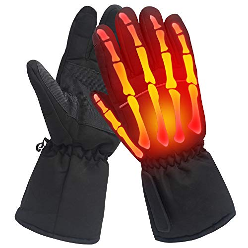 Heated Gloves Winter Warm Gloves Ski Heating Gloves Hot Hand Warmers 4.5V L