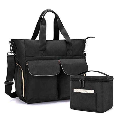 Fantastic Deal! Teamoy Breast Pump Bag with Cooler Bag, Breast Pump Storage Tote with Laptop Sleeve ...