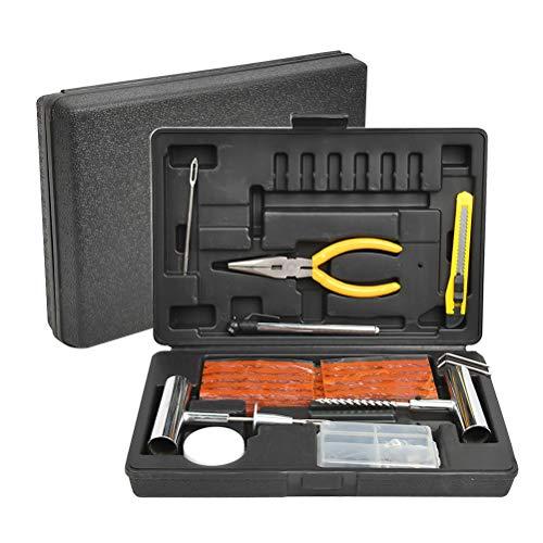 N\A YANSHON 68 Pcs Herramienta de Reparación de Pinchazos, Juego de Herramientas para Reparar neumáticos, Kit de Reparación para Neumáticos Pesados de Kit para Camión Tractor Coche