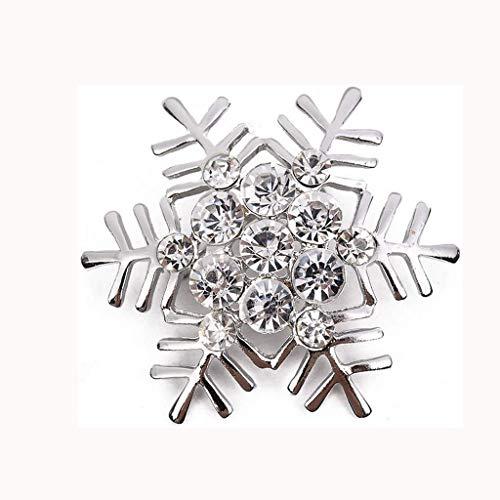 DAGONGREN Broche, Diamante del Copo de Nieve de Navidad Broche Ramillete, Adecuado for Ropa Variedad