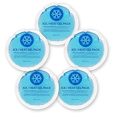 EverOne Round Reusable Gel Ice Packs with Cloth Backing for Therapeutic Uses - 5 Count from Ever Ready First Aid - PB