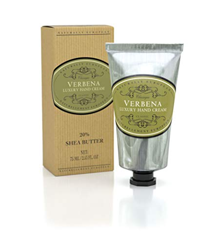 Naturally European Verbena Luxury Hand Cream Boxed 20% Shea Butter - 75ml  Combats Dry Skin For Those Hardworking Hands   Hand Cream, Hand Cream for Very Dry Hands, Shea Butter