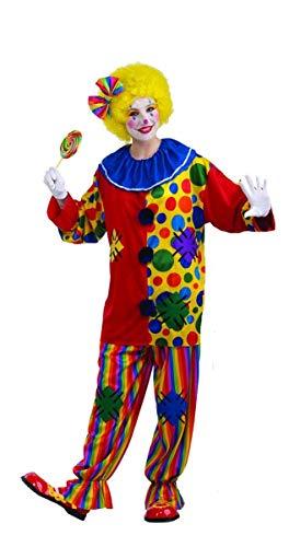 Men's Big Top Clown Costume, Purple/Green, One Size